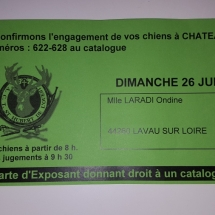 Carte exposant expo chateaubriant
